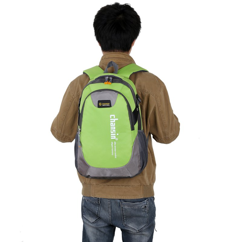 Men Women Casual Travel Package Student Book Backpack - GREEN