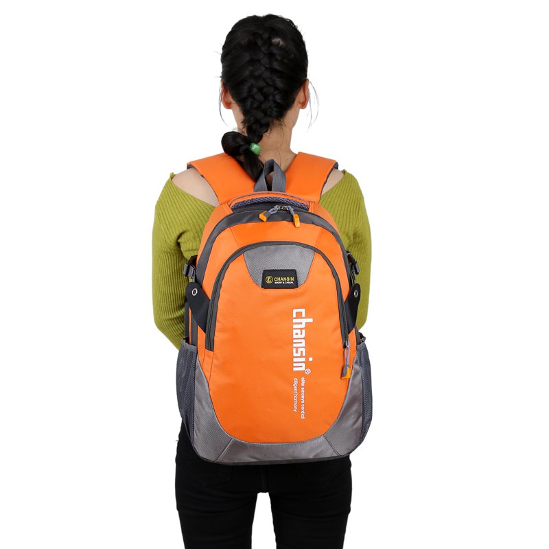 Hommes Femmes Casual Travel Package Student Book Backpack - Orange