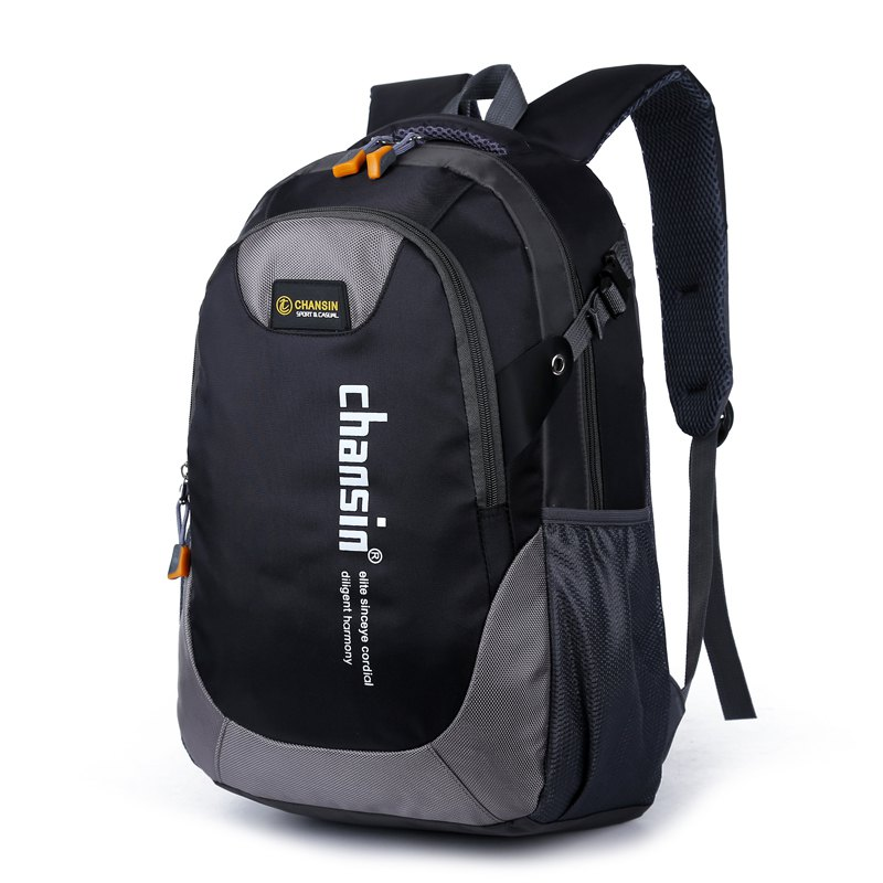 Men Women Casual Travel Package Student Book Backpack - BLACK