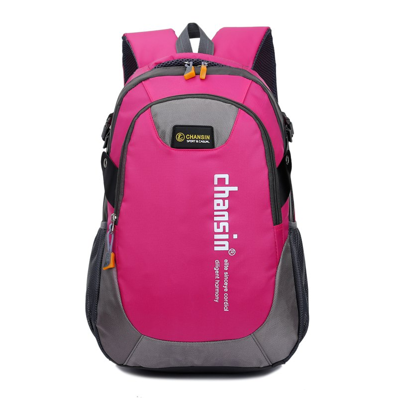 Hommes Femmes Casual Travel Package Student Book Backpack - rose