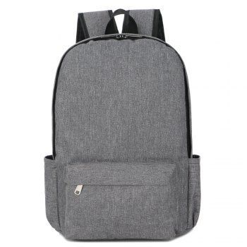 FLAMEHORSE Cross-Border New Backpack College Wind Backpack Simple Laptop Bag - GRAY GRAY