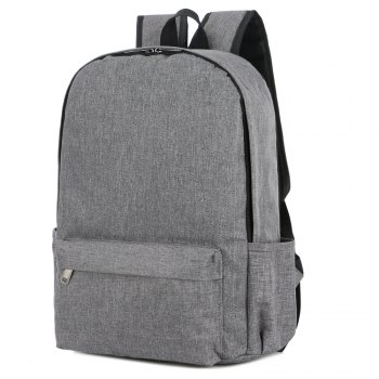 FLAMEHORSE Cross-Border New Backpack College Wind Backpack Simple Laptop Bag -  GRAY