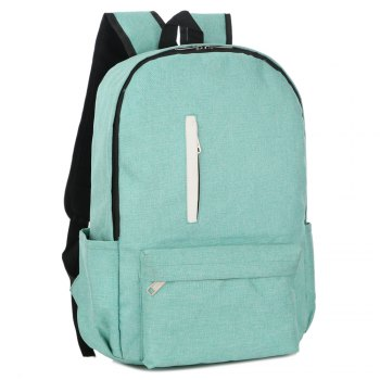 FLAMEHORSE Cross-Border New Backpack College Wind Backpack Simple Laptop Bag - LIGHT GREEN
