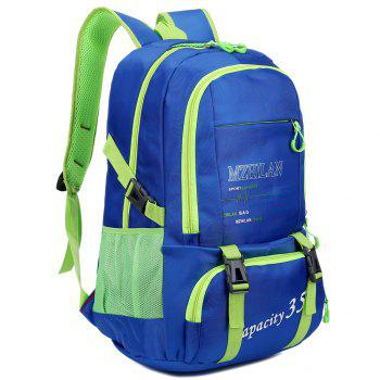 Men women Outdoor Mountaineering Travel Backpack Largecapacity Casual Sports Student Bag -  BLUE