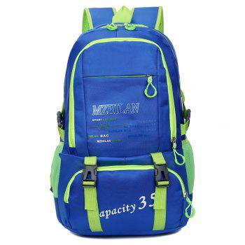 Men women Outdoor Mountaineering Travel Backpack Largecapacity Casual Sports Student Bag - BLUE BLUE
