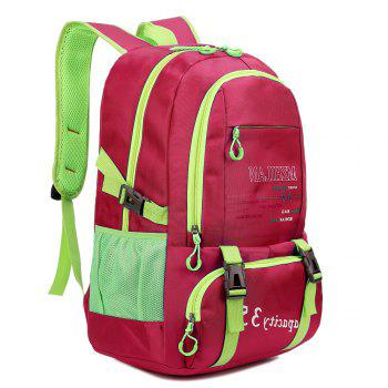 Men women Outdoor Mountaineering Travel Backpack Largecapacity Casual Sports Student Bag -  ROSE RED