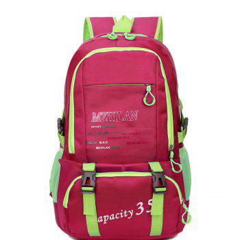 Men women Outdoor Mountaineering Travel Backpack Largecapacity Casual Sports Student Bag - ROSE RED ROSE RED