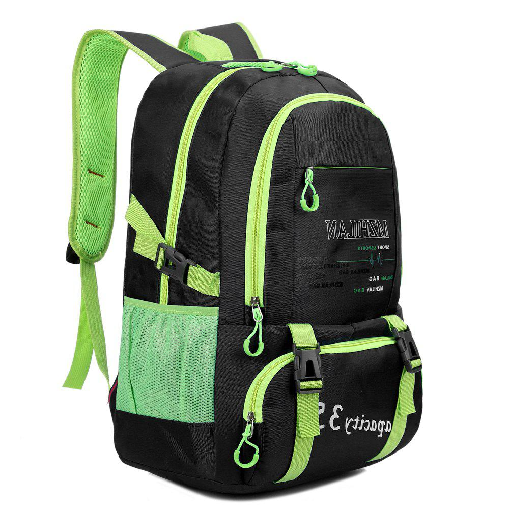 Men women Outdoor Mountaineering Travel Backpack Largecapacity Casual Sports Student Bag - BLACK