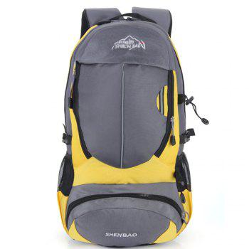 Outdoor Sports Travel Backpack Highcapacity Student Bag - YELLOW YELLOW
