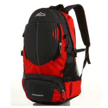 Outdoor Sports Travel Backpack Highcapacity Student Bag -  RED