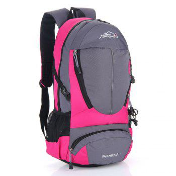 Outdoor Sports Travel Backpack Highcapacity Student Bag -  ROSE RED