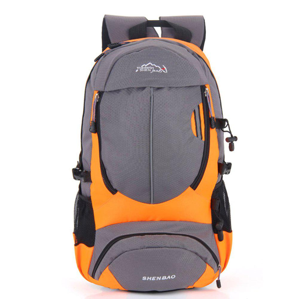 Outdoor Sports Travel Backpack Highcapacity Student Bag - ORANGE