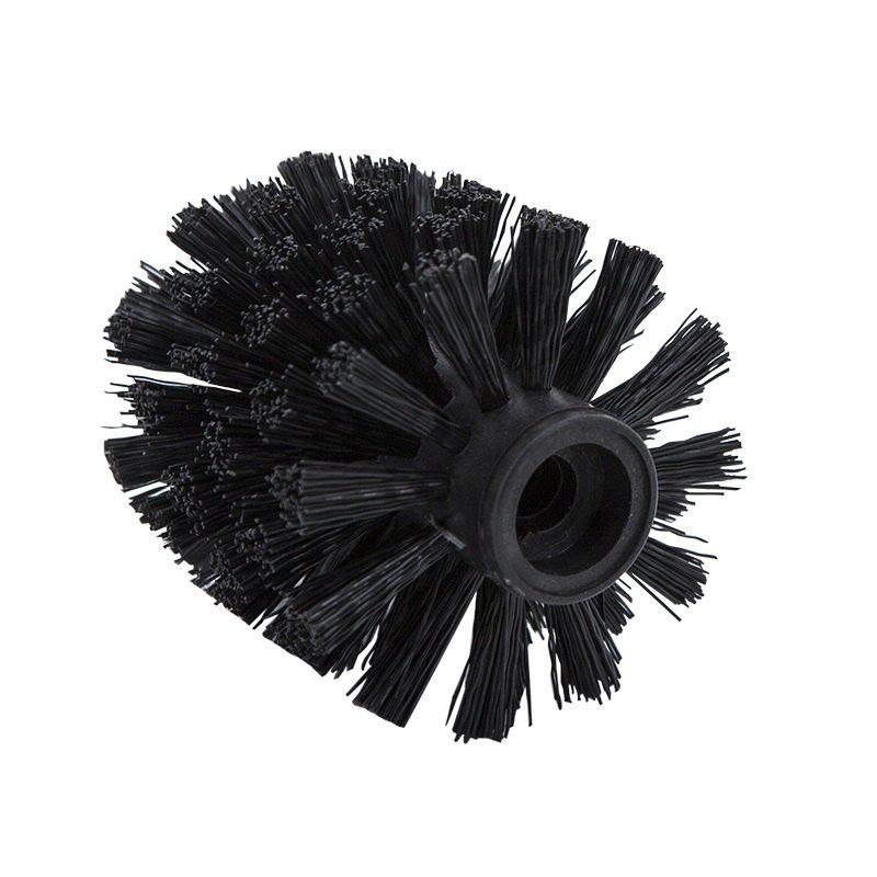 Plastic Bathroom Replacement Toilet Brush head WC Cleaning Accessory Bathroom Cleaning Black - BLACK