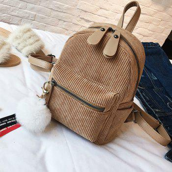 New Casual Corduroy Backpack -  KHAKI