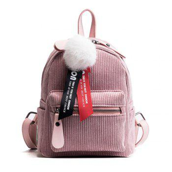 New Casual Corduroy Backpack - PINK PINK