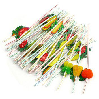 100PCS Bar Decorative Pipette - multicolorCOLOR
