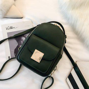 The Double Shoulder Bag Female Knapsack in The New Style of The New Fashion The Women's Single Shoulder Double Back -  GREEN