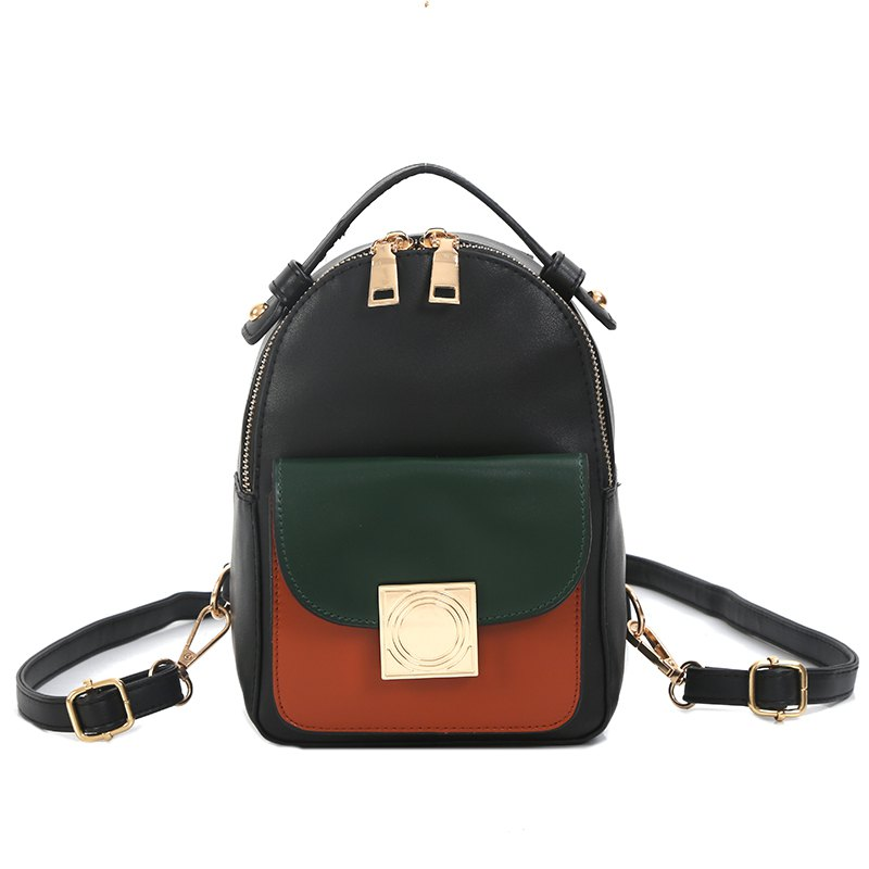 The Double Shoulder Bag Female Knapsack in The New Style of The New Fashion The Women's Single Shoulder Double Back - ORANGE YELLOW