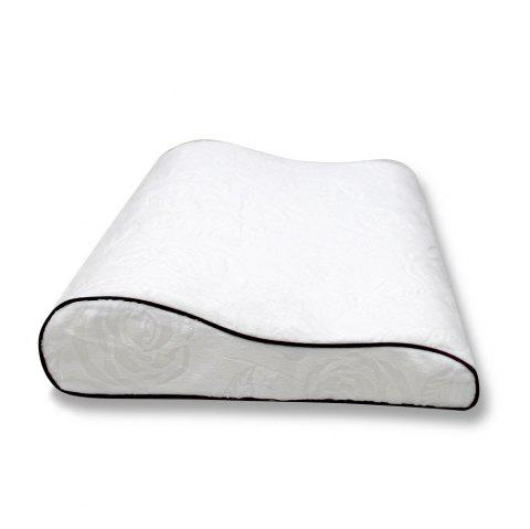 Healthy Silicone Sleep High Resilience Breathable Washable Pillows Children Pillows - WHITE