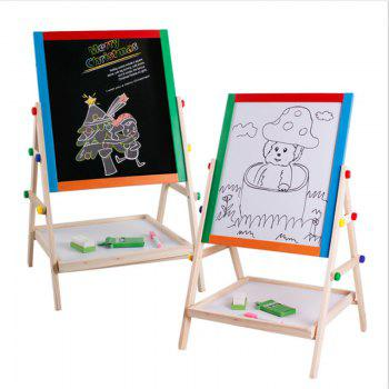 solid wood double-sided magnetic writing board small stenting drawing blackboard - WOODEN VERSION WOODEN VERSION