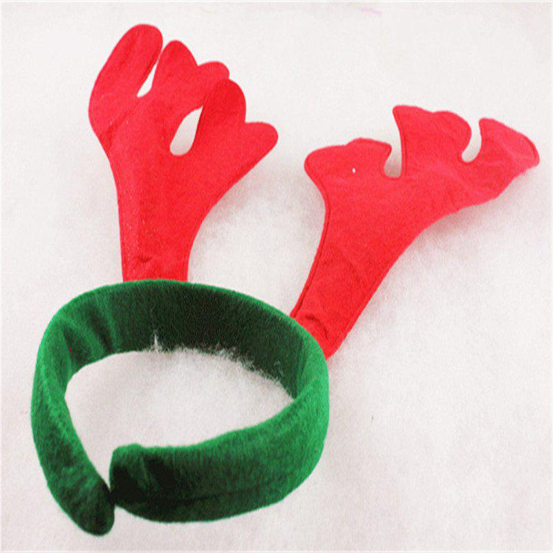 Christmas decorations with Christmas decorations with antler buckles - RED 30CM X 27CM