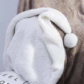 The Four-Horned Rabbit Hair Ball Decorated With Super Soft Lamb Blanket - COFFEE COFFEE