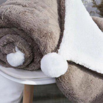 The Four-Horned Rabbit Hair Ball Decorated With Super Soft Lamb Blanket - COFFEE 150CM X 200CM