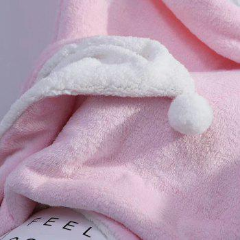 The Four-Horned Rabbit Hair Ball Decorated With Super Soft Lamb Blanket - PINK PINK