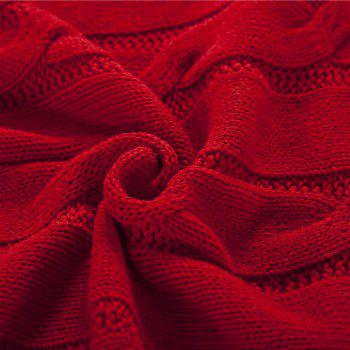 New Products all Cotton Knitting Yarn Leisure Blanket - RED RED