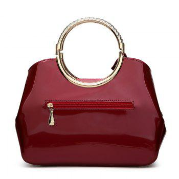 Ladies Casual Light Plastic Sequined Handbag - WINE RED