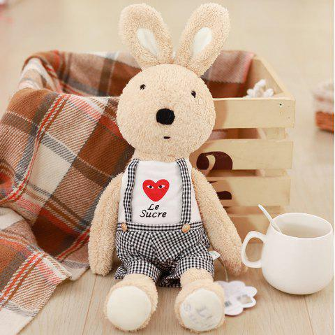 30CM Love Suspenders Plush Rabbit Toy Creative Doll - LIGHT BROWN