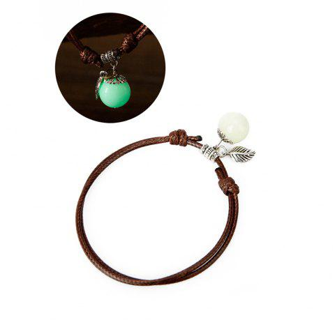 Women Ankle Chain Vintage All Matched Luminous Fashion Accessory YMJL-coffe - GREEN