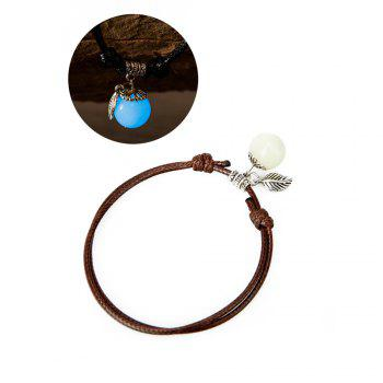 Women Ankle Chain Vintage All Matched Luminous Fashion Accessory YMJL-coffe - BLUE LIGHT BLUE LIGHT