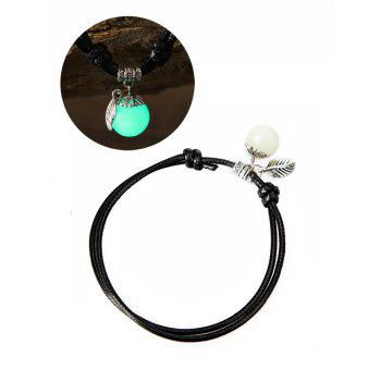 Women Ankle Chain Vintage All Matched Luminous Fashion Accessory YMJL-Black - GREEN GREEN