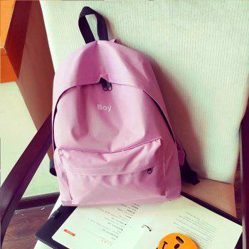 Women's Backpack Solid Color Large Capacity Trendy School Bag - PINK