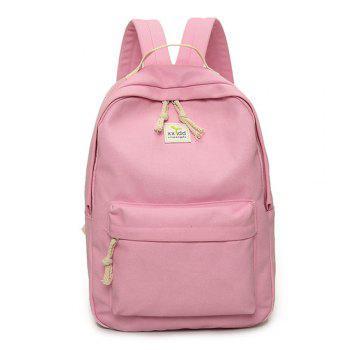 Women's Backpack Fresh Style Preppy All Match Canvas Bag - PINK PINK