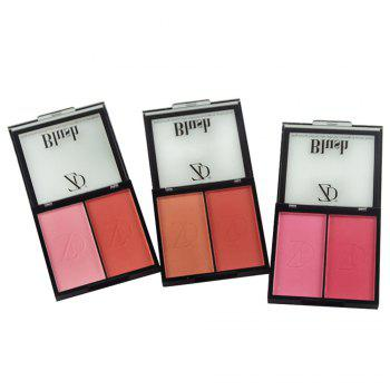 ZD F2032B 2 Colors Blusher Palette Natural Cheek Makeup 1PC - PINK