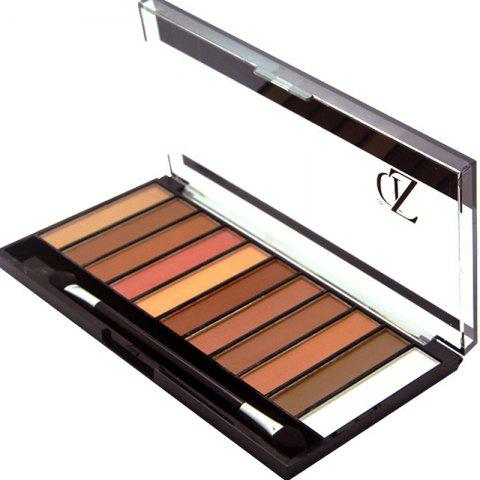 ZD F2067 11 Colors Shimmer Eye Shadow Blusher Palette 1pc - COLORMIX