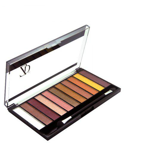 ZD F2067 11 Colors Shimmer Eye Shadow Blusher Palette 1pc - multicolor