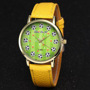 ZhouLianFa New Simple Lychee Leather Strap Ladies Luxury Brand Fashion Quartz Watch -  YELLOW