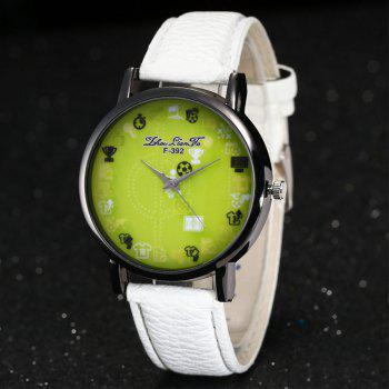 ZhouLianFa New Simple Lychee Leather Strap Ladies Luxury Brand Fashion Quartz Watch - WHITE