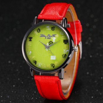 ZhouLianFa New Simple Lychee Leather Strap Ladies Luxury Brand Fashion Quartz Watch -  RED