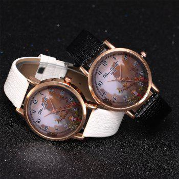 ZhouLianFa New Trend of Sports Crocodile Pattern Quartz Lady Watch - WHITE