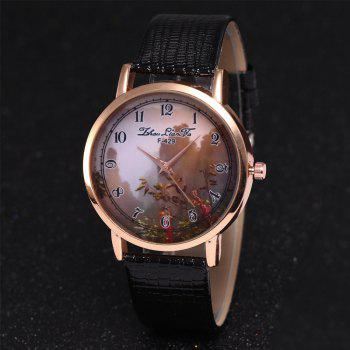 ZhouLianFa New Trend of Sports Crocodile Pattern Quartz Lady Watch - BLACK