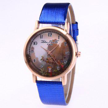 ZhouLianFa New Trend of Sports Crocodile Pattern Quartz Lady Watch - BLUE BLUE