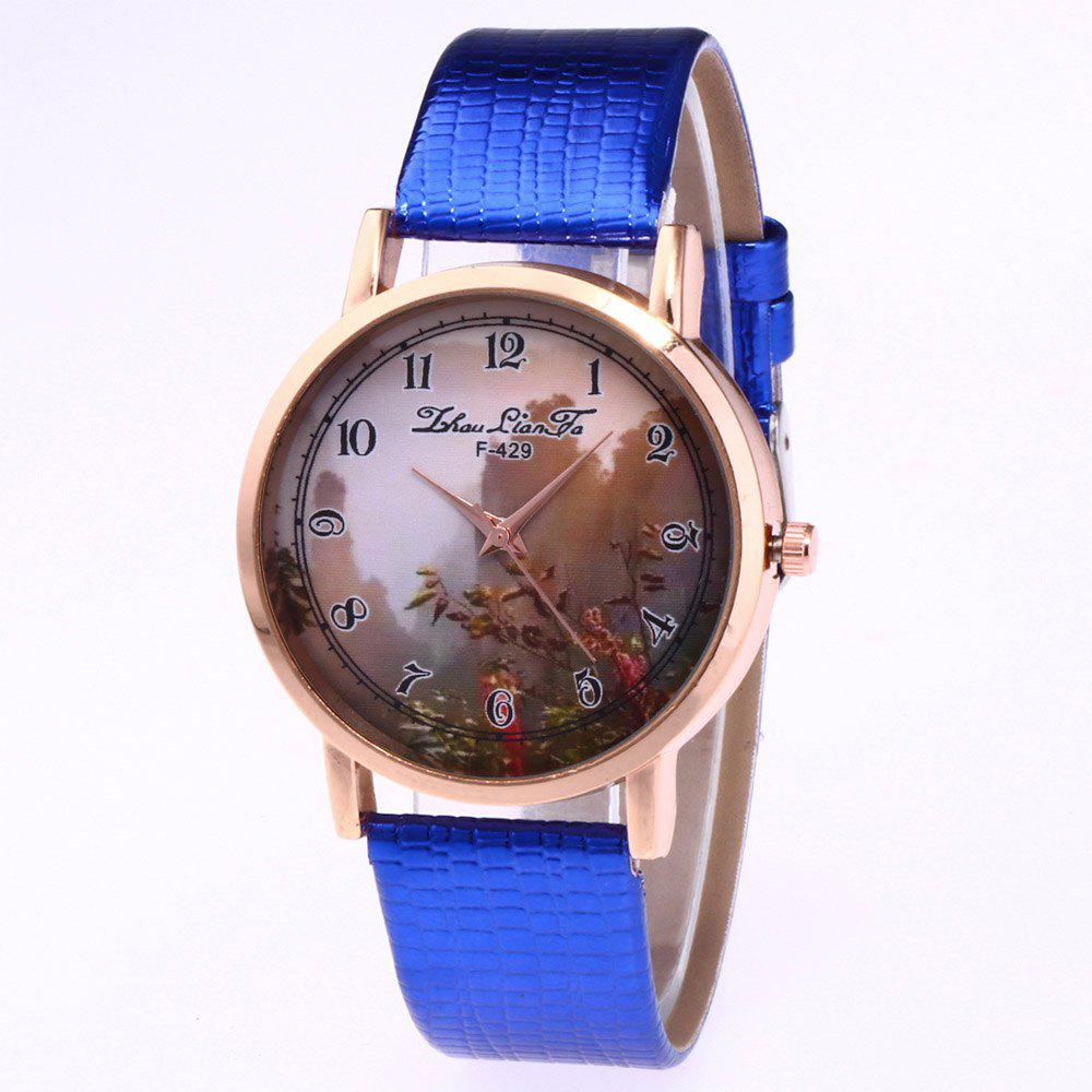 ZhouLianFa New Trend of Sports Crocodile Pattern Quartz Lady Watch - BLUE