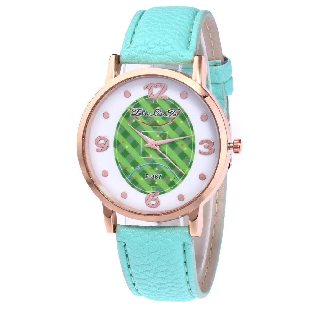 ZhouLianFa New Brand Fashion Trend Lai Chi Pattern Leather Strap Luxury Ladies Quartz Watch - MINT