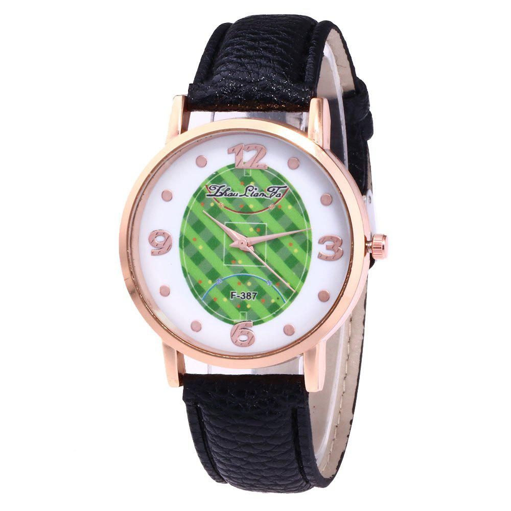 ZhouLianFa New Brand Fashion Trend Lai Chi Pattern Leather Strap Luxury Ladies Quartz Watch - BLACK