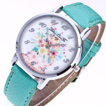 ZhouLianFa New Outdoor Trendy Fashion Silver Lychee Quartz Watch - MINT