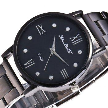 ZhouLianFa New Sports Luxury Trend Black Steel Quartz Watch - BLACK